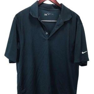 Nike Polo Shirt Mens sz L Short Sleeve Black Golf